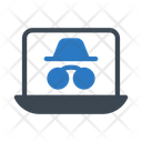 Spy Hacker Laptop Icon