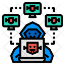 Botnet Hacker Attack Icon