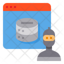 Hacker Internet Server Icon