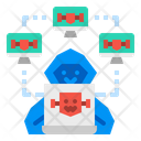 Hacker Botnet Attack Icon