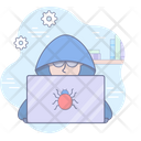 Hacker Cyber Security Icon