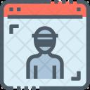 Hacker Webpage Hacking Icon