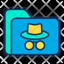 Hacker Floder Spy Hack Data Icon