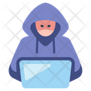 Hacker Laptop Icon