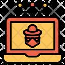Laptop System Hacker Icon