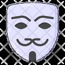 Hacker Mask Criminal Mask Anonymous Mask Icon