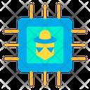 Hacker Microchip Icon