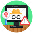 Cyber Threat Hacker Threat Hacker Attack Icon