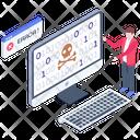 Cyber Crime Hacking Error Hacking Virus Icon