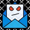 Hacking Mail Virus Email Virus Mail Icon
