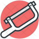 Hacksaw Construction Repair Icon