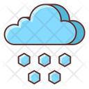 Hail Cloud Hail Stones Icon