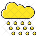 Hailing Weather Cloud Icon