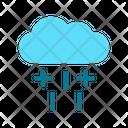 Hailstorm Heavy Rain Weather Icon