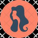 Hair Wig Woman Icon