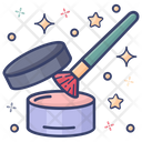 Compact Powder Makeup Cosmetics Icon