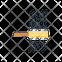 Hairbrush Comb Hairs Icon