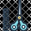 Hairdressing Scissors Comb Icon