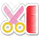 Haircutting Hairdressing Scissor Icon