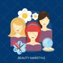 Hairstyle Flower Hair Icon