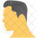 Man Hairstyle Combed Icon