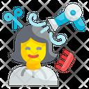 Hairstylist Occupation Design Icon