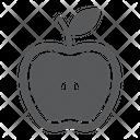 Half Apple Food Icon