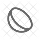 Half Circle Geometry Icon