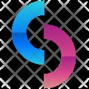 Circles Half Logogram Icon