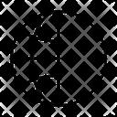 Half Earth Grid Icon