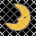 Moon Half Moon Halloween Icon