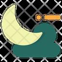 Moon Half Moon Climate Icon