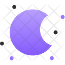 Half Moon Night Partly Cloudy Night Icon