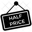 Half Price Black Friday Icon