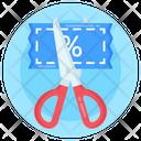 Half Price Cut Price Discount Coupon Icon