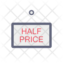 Half Price Board Signboard Signal Icon
