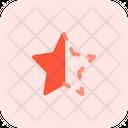 Half Star Star Half Alt Star Icon