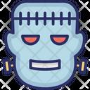Halloween Horror Monster Head Icon