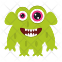Halloween Alien Cartoon Icon