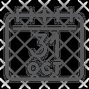 Halloween Calendar October Icon