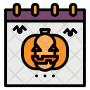 Halloween Calendar Date Icon
