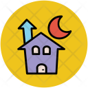 Halloween Mansion Castle Icon