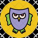 Halloween Owl Bird Icon