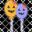 Decorative Balloons Party Balloons Halloween Balloons Icon