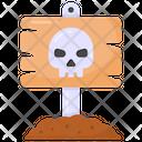Road Post Halloween Board Danger Board Icon