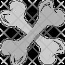 Halloween Bone Dog Bone Meringue Bone Icon