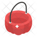 Halloween Bucket Basket Container Icon