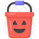 Halloween Bucket Scary Bucket Water Container Icon