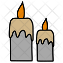 Halloween Candles Candle Light Burning Candles Icon