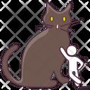 Halloween Cat Evil Cat Halloween Animal Icon